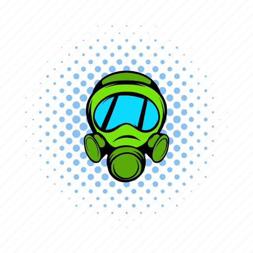 army, comics, gas, mask, military, protection, war icon
