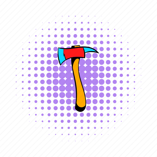 ax, axe, equipment, fire, safety, tool, work icon