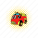 car, comics, emergency, engine, equipment, fire, truck icon