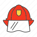 firefighter, fireman, hard hat, headwear, helmet, protection icon