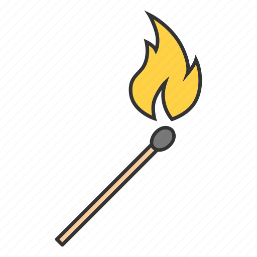 arson, burn, fire, firefighting, flame, match, matchstick icon