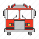 emergency, fire, firefighting, fireman, firetruck, truck, vehicle icon
