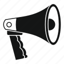 loudspeaker, megaphone, message, outdoor, speaker icon