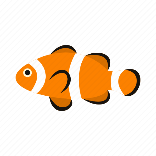 animal, clown, fish, sea, tropical, underwater, water icon
