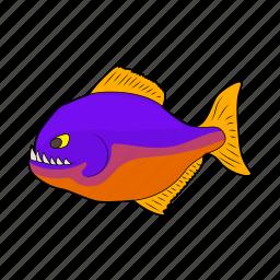 animal, cartoon, fish, nature, predator, sea, teeth icon