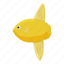 animal, cartoon, fish, marine, nature, sea, yellow icon