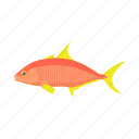 animal, cartoon, fish, orange, tropical, underwater, water icon