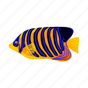 animal, cartoon, fish, tropical, underwater, water, zebrasoma icon