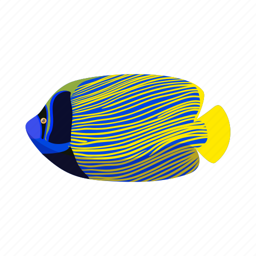 angelfish, animal, aquarium, cartoon, fish, tropical, underwater icon