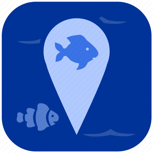 fish, fishing, geo, location icon