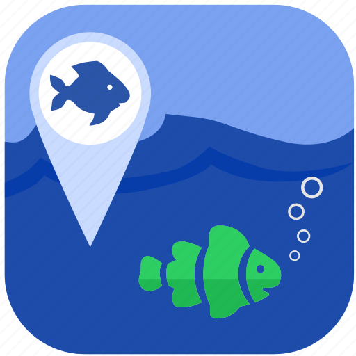 Fish, fishing, geo, gps, location icon - Download on Iconfinder