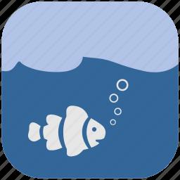 fish, ocean, sea, under, water icon