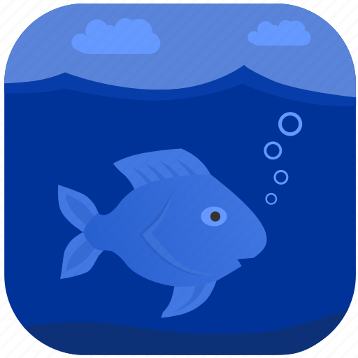 Fish, fishing, ocean, sea, under, water icon - Download on Iconfinder