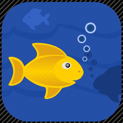 fish, fishing, ocean, sea, water icon