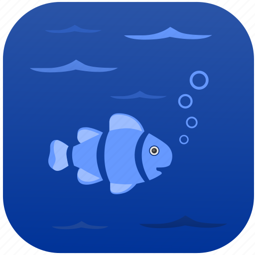 fish, sea, under, water icon