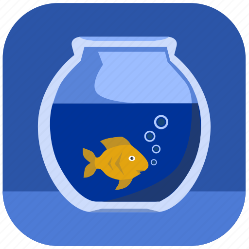 aquarium, fish, gold, home icon