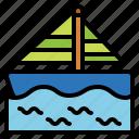 boat, sailboat, transport, travel icon