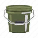 accessory, attribute, bucket, catch, equipment. fishing, tackle icon