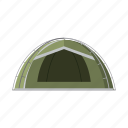 accessory, attribute, equipment. fishing, tackle, tent icon