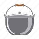 accessory, attribute, dishes, equipment. fishing, pot, tackle icon