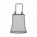 accessory, attribute, cage, equipment. fishing, tackle icon