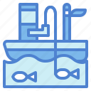 camping, fisher, fishing, summer icon