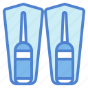 dive, diving, fins, flippers icon
