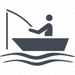 boat, fisherman, fishing, sea icon