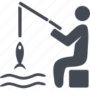 catch, fish, fisherman, fishing, water icon