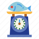 balance, fish, scale, weight icon