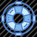 floating, lifebuoy, lifesaver, security