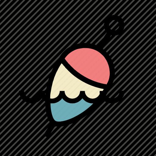 bobber, cork, fishing, float, water icon