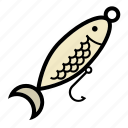 bait, fishing, minnow, spoon, hook
