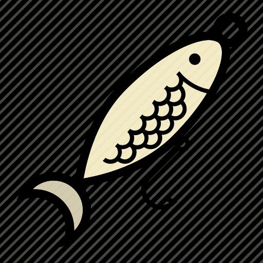 bait, fishing, hook, minnow, spoon icon