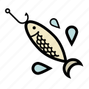 bait, fishing, minnow, spinning, spoon icon