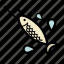 bait, fishing, minnow, spinning, spoon icon