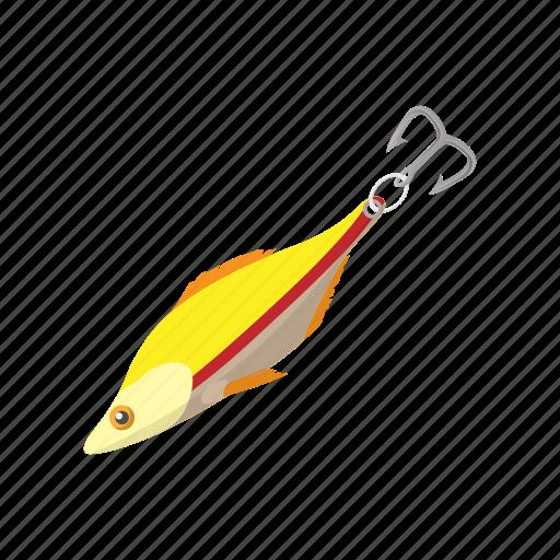 bait, cartoon, fish, fishing, hobby, hook, lure icon