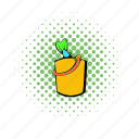 bucket, comics, fish, fishing, food, healthy, seafood icon