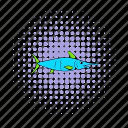 comics, fish, fishing, food, healthy, nature, sea icon