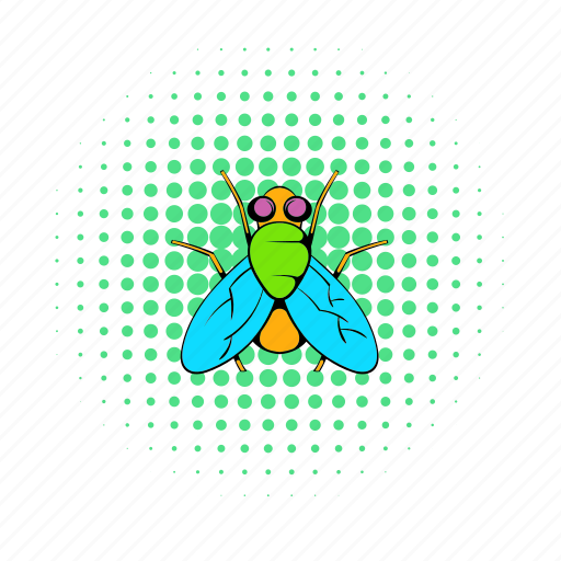 bug, buzz, comics, fly, insect, nature, wing icon