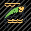 bait, fish catching, fishing, lure icon