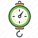 scales, spring balance, weighing, weight icon