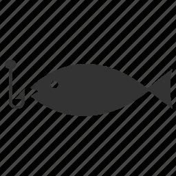 animal, fish, fishing, hook, sea, seafood, water icon