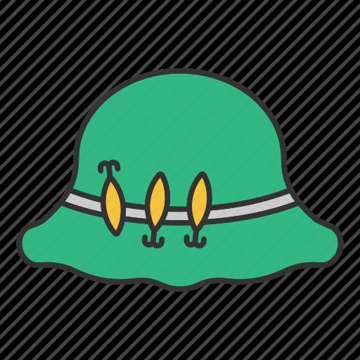 accessory, clothes, fisherman, fishing, hat, headgear, headwear i icon