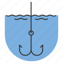 angle, angling, fishhook, fishing, gear, hook, tackle