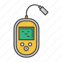 device, echo sounder, finder, fish, fishing, search, tackle icon