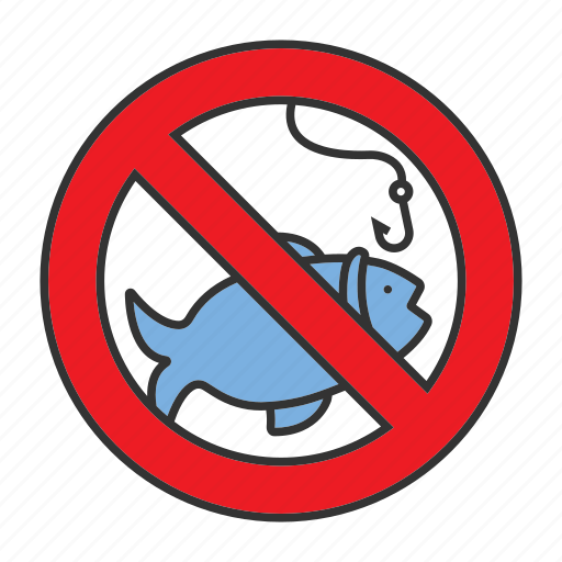 angling, fish, fishery, fishhook, fishing, hook, stop icon