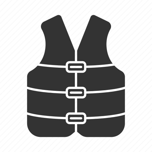 boating, clothes, life jacket, protection, safety, vest icon