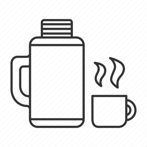 cup, drink, flask, hot, tea, thermos, travel icon