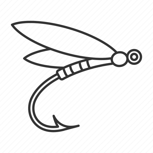 angling, bait, dragonfly, fishhook, fishing, lure, tackle icon